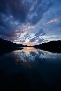 Austrian lake sunset