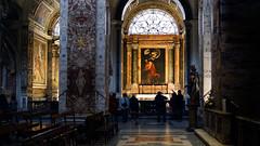 Looking toward the Contarelli Chapel