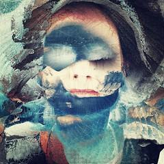 One blue morning (lorenka campos) Tags: expressionism conceptual mobileartistry artdigital popart modernart art blue selfportrait portrait