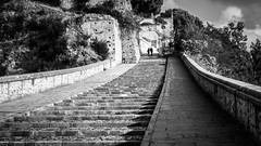 The stairs - Paola, Italy - Black and white street photography (Giuseppe Milo (www.pixael.com)) Tags: streetphotography street italy italia paola stairs faceless urban black candid bw photo photography city blackandwhite contrast europe geotagged white calabria it onsale