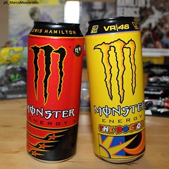 When 2 Champions meet (Marco Moscariello) Tags: can lewishamilton valentinorossi vr46 lh44 teamlh yamaha mercedes formula1 motogp monster f1 motomondiale monsterenergy cans tins lattine rossi hamilton collection 44unleashed moscariello tavullia popologiallo