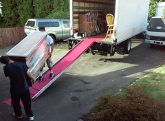 Two Trucks Filling, 24' and 16' (Jeffxx) Tags: move 2017 house lynnwood professional moving cx company nacho matt dresser load ramp
