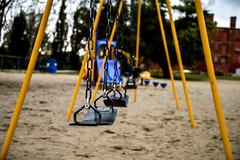 Swings. Windsor, ON. (Paul Thibodeau) Tags: photooftheday windsor nikond500 swings sandpointbeach lonely playground