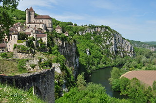 Le Lot, Saint Cirq Lapopie, Quercy, Lot, Occitanie, France.