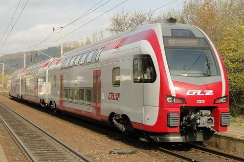 CFL Electric trainset N° 2313 in Walferdange.