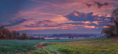 Colourful morning (Thos A.) Tags: landscape panorama paysage prairie meadow sky ciel cloud nuages nd hdr trees arbres red rouge couleur bourgogne burgundy nièvre canon eos eos80d rural automne autumn