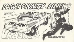 Dick Kulpa: Macon County Liner - Fond du Lac, Wisconsin (73sand88s by Cardboard America) Tags: qslcard qsl cbradio cb vintage dickkulpa police wisconsin