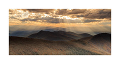 Craggy Pinnacle View (Jo McD) Tags: northcarolina autumn sunset blueridgemountains blueridgeparkway mountains mountain sunray landscape sky