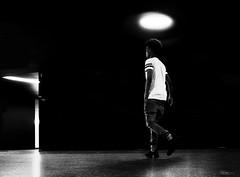 The holy one! (René Mollet) Tags: man african underground holy light blackandwhite bw urban street streetphotography shadow silhouette streetart lowkey lowpov renémollet aarau candite