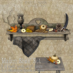 *pm* Mabon shelf set poster (the_innocence) Tags: pm papermoon occult spiritual mystical mysterious mabon seasonofthewitch witch harvest fall celebration