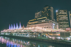 Vancouver - Canada Place (IQRemix) Tags: vancouver yvr britishcolumbia canada urban street photography sony a7rii city lights downtown modern architecture nightphotogrpahy canon24mmf14ii lowlight canadaplace