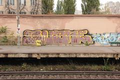 Station party. (rubae1) Tags: rubae legzcrew mbk uc ea station ukraine kyiv graffiti trainline