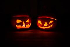 same procedure (tinfrey) Tags: 2017 canoneos6d sigma35mmf14dghsm availablelight black blackbackground candle halloween jackolantern light october orange pumpkin pumpkins
