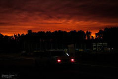 Fire in the sky (Eduardo F S Gomes) Tags: fire sky opel ascona 400 69 rally de portugal historico 2017 nikon d300s f18 35mm rali rallie