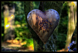 A metal heart as a memory of a loved one.....