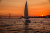 """sailing around Lisbon, Portugal, between  Torre de Belem to Panteao Nacional - sunset paints the Ponte 25 de Abril and other boats with colour. (grumpybaldprof) Tags: lisbon lisboa portugal portuguese city """"ponte25deabril"""" """"torredebelem"""" """"panteaonacional"""" tagus """"halcyontours"""" sailing sunset sunsetcolours water hdr bridge boats yachts colours restful mood relaxing """"canonpowershotg1xmarkii"""" canon powershot g1xmkii """"125625mm"""""""