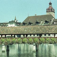 Beautiful place (LucieOnTheBridge) Tags: switzerland suisse lac colorama argentique nikon analogic