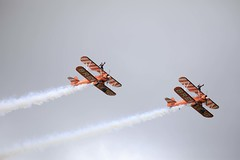 Breitling Wingwalkers at the 2017 Scampton Airshow. (Downtime_1882) Tags: breitlingwingwalkers breitling wingwalkers plane planes aviation sky horizontal landscape outdoors color colorimage colour colourimage europe famous famousplace colors colours scamptonairshow 2017scamptonairshow scamptonairshow2017 canon canoneos 5d4 5div 5dmark4 5dmarkiv canoneos5d4 canoneos5div canoneos5dmarkiv canoneos5dmark4 rafscampton canonef100400mmf4556lisiiusm