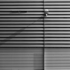 Minimal Square - Lamp (Visual Stripes) Tags: minimal square composition wall lines shadow lamp blackandwhite