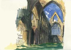 The Ruins of Tintern Abbey (Gary Yeung HK) Tags: urbansketchers wales tintern abbey