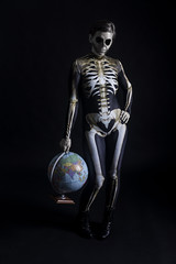 Day 3904 (evaxebra) Tags: wh wah skeleton earth globe world badinka costume dead death halloween 33daysofhalloween 33days 365days 365 evaxebra
