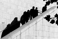 The ascension (pascalcolin1) Tags: paris13 hommes men escalier steps ombres shadows photoderue streetview urbanarte noiretblanc blackandwhite photopascalcolin 50mm canon