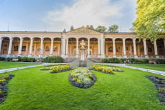 Neoclassical building in Baden-Baden, Germany (Sebas Adrover) Tags: badenbaden badenwurttemberg blackforest deutschland europe germany mountains destiny town black palace outdoors yellow european field classic summer garden meadow landmark architecture tourism city trinkhalle old landscape night famous clouds lawn illuminated spa kurhaus sky elegant resort casino green blue forest flower grass neoclassical baden tree sculpture flowers decorated badenwürttemberg alemania de
