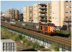 Valongo 30-12-14 (P.Soares) Tags: 1400 comboio cp comboios caminhodeferro carruagens linha locomotiva linhas locomotivas laranja linhadodouro passageiros p