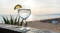Sun & Tonic (C.A.Photogenics) Tags: portugal gale sony a7rii color colour sea sun gin tonic gt contrast glass holiday beech relax tan exposure composition highlight shadow boka deepth dof clarity focus