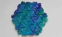 Trapezoidal Triangles - Joel Cooper (Monika Hankova) Tags: origami tessellation hexagon joel cooper