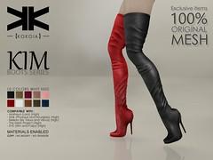 Kim :: Boots Series :: 10 Colors ({kokoia}) Tags: kokoia boots boot heel maitreya slink tmp belleza eve high shoes kim tall upper leg thigh mesh avatar secondlife 3d