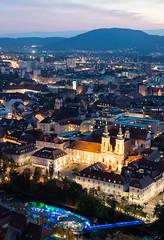 Graz at dusk (CdL Creative) Tags: 70d austria canon cdlcreative eos graz schlossberg styria dusk geo:lat=470764 geo:lon=154369 geotagged steiermark at