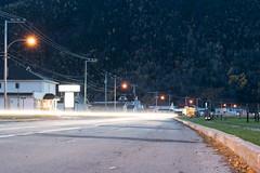 Light Streak in Mont ST. Pierre (Deebecks) Tags: canada dusk gaspésie lightstreaks longexposure montsaintpierre quebec town