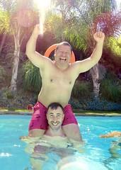 IMG_9564 (danimaniacs) Tags: shirtless hot sexy guy man male swimmingpool smile beard scruff armpit shorts trunks swimsuit