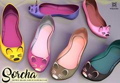 "Phedora for Uber Event- ""Sorcha"" ballerina shoes ♥ (Celena Galli ~ phedora.) Tags: sl secondlife second life 3d mesh phedora shoes heels flats maitreya belleza slink cute classy cozy uber fashion event originalcontent 28colors hud"
