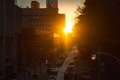 Queen Street Torontohenge 2016 (A Great Capture) Tags: outdoor outdoors eos digital dslr lens canon 70d ef50mm light sun sunny sunshine fire sunset atardecer cityscape urbanscape vibrant colorful cheerful vivid bright streetphotography streetscape street calle building agreatcapture agc wwwagreatcapturecom adjm ash2276 ashleylduffus ald mobilejay jamesmitchell toronto on ontario canada canadian photographer northamerica torontoexplore fall autumn automne herbst 2016