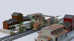K-5 Rail gun (C.Ngoc) Tags: leopold railgun train railway gun lego military ww2
