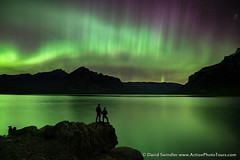 Banff Lights (David Swindler (ActionPhotoTours.com)) Tags: aurora northernlights nightphotography reflection auroraborealis canada lake alberta night banff