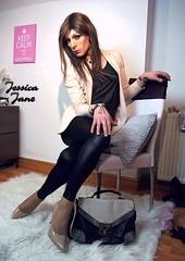 Wet Look & Cream (jessicajane9) Tags: tg crossdresser transvestite lgbt trans m2f tgurl xdress feminised transgender crossdressing tgirl cd