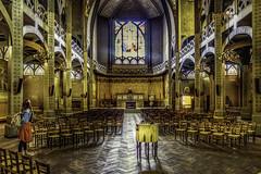 Paris, église St Jean Montmartre (Luc Mercelis) Tags: paris church sonyilce7 minoltaprimelens24mm minolltaprimelens20mm minoltaprimelens topaz textureeffects lowlight
