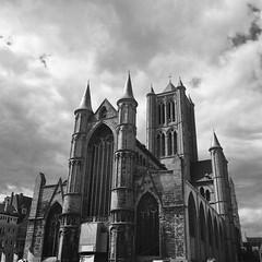 Sint-Niklaaskerk (csobie) Tags: bronicasqa yellowfilter k2 film analog tmax 400 blackandwhite epson v600 50mm f35 s ghent gent belgium travel architecture 120 6x6 medium format