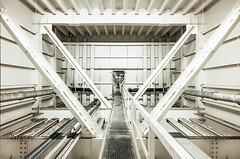 • Journey concatenator (Woven Eye) Tags: geometry civilworks bridgedeck summilux21 typ601 trafficsupport ironframe infiltration notrespassing urbanexploration bridge nobody sometimesalone
