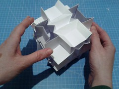 Flexicube, expanded (ISO_rigami) Tags: modular origami cube polyhedron flexible kinematic kinetic a4 3d action