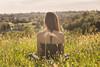Be Quiet (Daniele Pauletto) Tags: model modella camilla girl back schiena goldenhour hair nature landscape quiet shoulders dpphotography