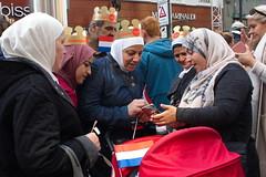 Royalty fans (chipje) Tags: street people muslims islamic headscarfs noordeinde prinsjesdag thehague
