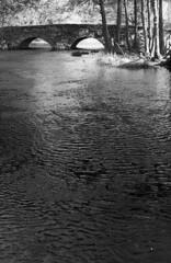 Bro Öxabäck (holtelars) Tags: asahi pentax spotmatic spotmaticii smctakumar takumar 55mm f18 film 35mm analog analogue ilford fp4 ilfordfp4 100iso xtol bw blackandwhite monochrome filmphotography filmforever ishootfilm larsholte homeprocessing stonebridge river öxabäck sweden sverige