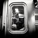Subway scene (Roy Savoy) Tags: bw blackandwhite street people city