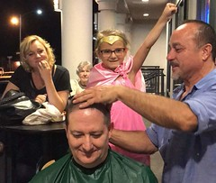 "Celebratory head shave for St. Baldrick's after surpassing the fundraising goal. • <a style=""font-size:0.8em;"" href=""http://www.flickr.com/photos/131449174@N04/37465295196/"" target=""_blank"">View on Flickr</a>"