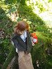 Mirai enjoyed her trip (sh0pi) Tags: smart doll danny choo culture japan cj puppe sd sdsize 13 60 cm mirai suenaga milk medium wave hazel wig smartdoll poncho jacket dark green tamashii pendant autumn herbst wald woods 2017