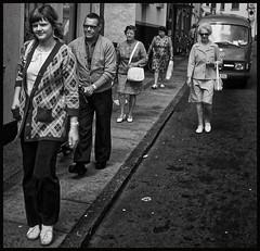 The leader of the gang... (iEagle2) Tags: analog analogfilm analogue blackandwhite blackwhite bw denmark ehefrau female femme frau film minolta woman wife women city